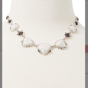 NWT Lucky Brand Necklace in Silver and Grey Stones
